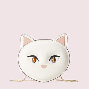 kate spade   meow cat crossbody
